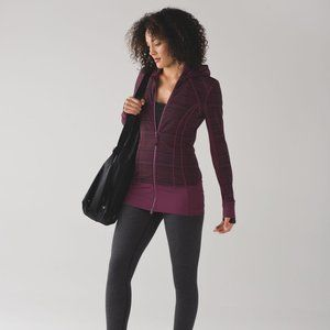 Lululemon Daily Practice Jacket Cyber Red Grape
